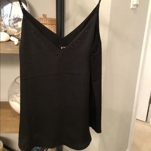 NWT Express Black Camisole with beads💎💋